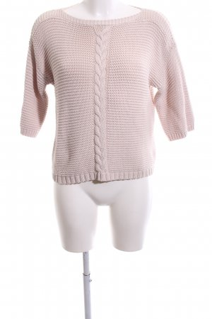 someday Grobstrickpullover pink Zopfmuster Casual-Look