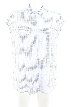 someday Hemd-Bluse weiß-stahlblau Streifenmuster Casual-Look