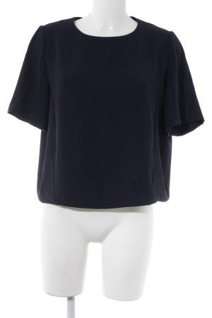 someday Kurzarm-Bluse dunkelblau Casual-Look