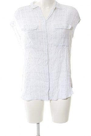 someday Short Sleeve Shirt white-light grey striped pattern business style