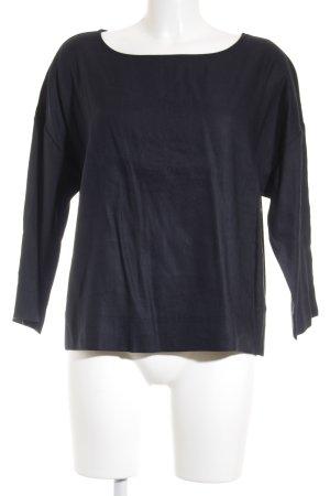 someday Langarm-Bluse dunkelblau Elegant