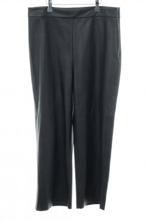 someday Pantalón de cuero negro estilo «business»