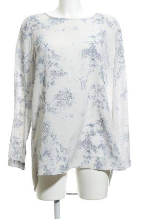 someday Camicetta lunga grigio ardesia-bianco Motivo schizzi di pittura