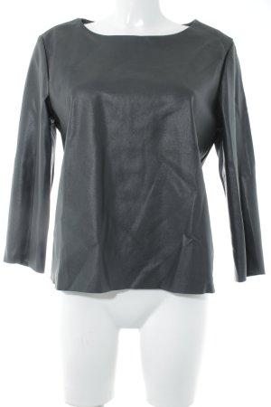 someday Longshirt schwarz schlichter Stil