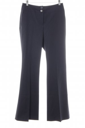 someday Marlene Trousers dark blue striped pattern business style