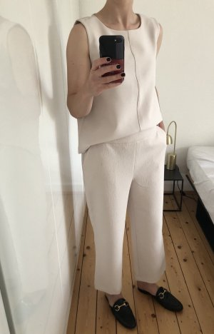 Someday Opus Hosenanzug Zweiteiler Culottes Top Shirt beige Gr. 38