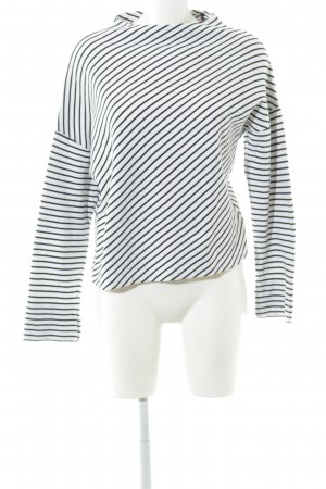 someday Oversized Sweater black-white striped pattern casual look