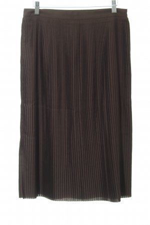 someday Pleated Skirt black brown classic style