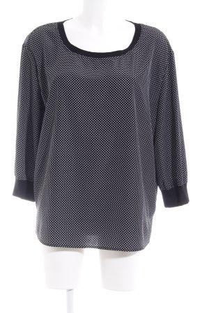 someday Shirt met print zwart-wit abstract patroon zakelijke stijl