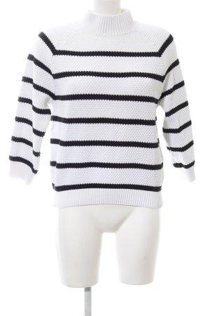 someday Rollkragenpullover weiß-schwarz Streifenmuster Casual-Look