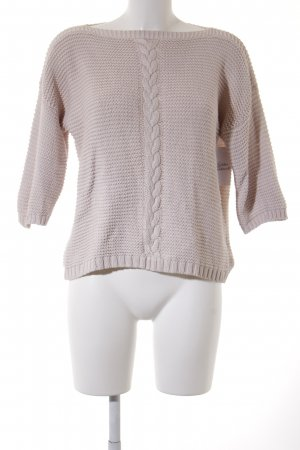 someday Strickpullover creme Zopfmuster Casual-Look