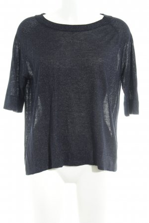 someday Camisa tejida azul oscuro look casual
