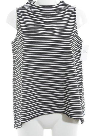 someday Trägertop schwarz-weiß Streifenmuster Casual-Look