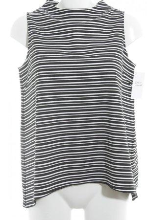 someday Trägertop schwarz-weiß Streifenmuster sportlicher Stil