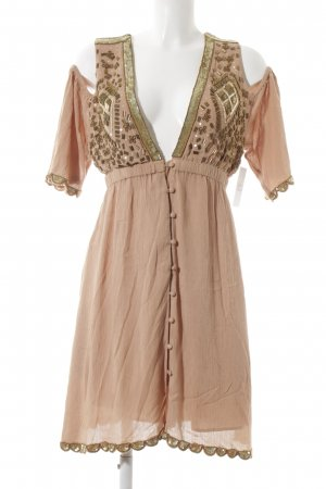 Somedays Lovin Cut-Out-Kleid apricot Boho-Look