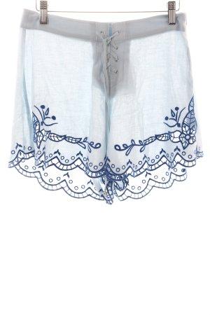 Somedays Lovin Shorts hellblau-blau Stickereiverzierung