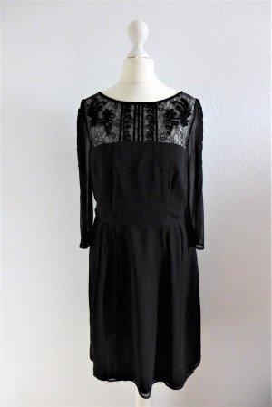 Somerset by Alice Termperley Kleid Seide Spitze schwarz UK10 dt 36 S