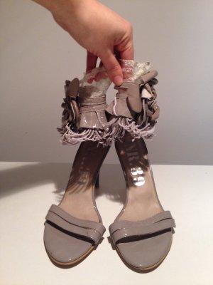 Sommer Ankle Sexy romantisch feminin Spitze Lackleder Blume Luxus Designer