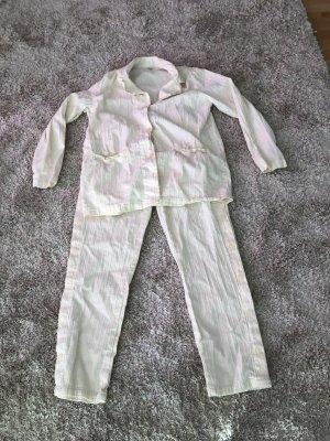 Sommer Anzug Hose Pyjama Gr 42 L Creme