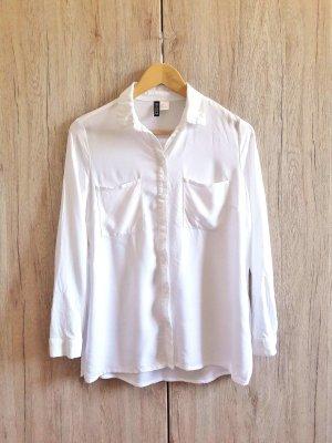 Sommer Basic Bluse Hemd weiß Gr. 36