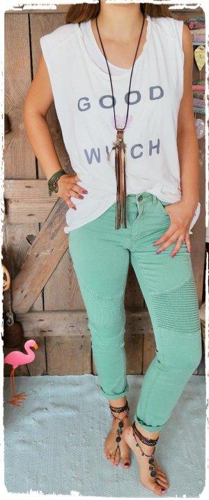 edc Jeans de moto vert menthe