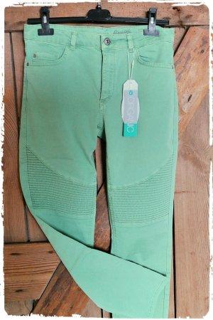 Sommer Biker Jeans mintgrün