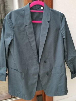 Uniqlo Boyfriend Blazer slate-gray cotton