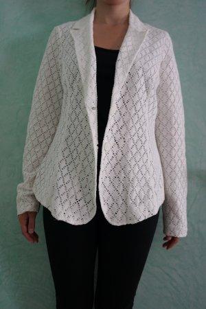 Comma Blazer white cotton
