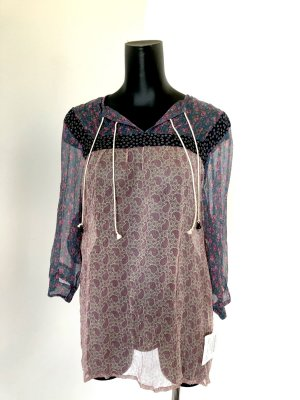 Sommer Bluse aus Seide mit Blumenprint von BOSS Orange NEU in Größe 36 | S