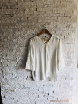 Chemisier kimono blanc coton