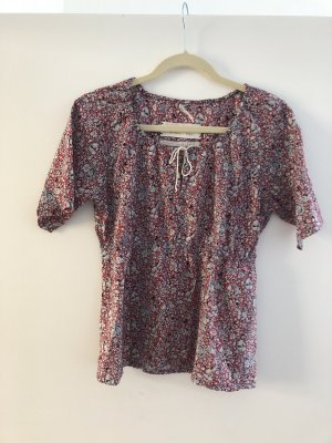 Sommer Bluse Marc O'Polo 36S Blumen rot weiß