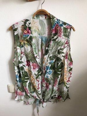 Sommer Bluse mit Knoten vorne