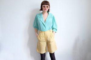 sommer bluse stickerei mint pastell S M made in germany