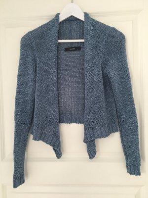 Hallhuber Boléro en tricot bleu azur