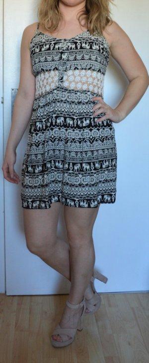 Cut out jurk veelkleurig Viscose