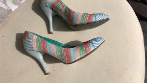 """Sommer-Frühlings-Leder-Schuhe . """"Xyxyx.""""Bunte Pastellfarben. Gr. 40"""