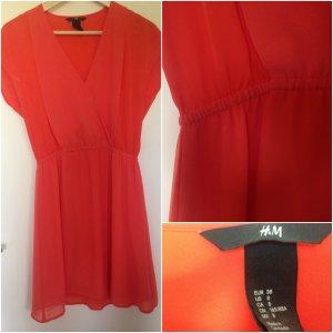 H&M Vestido playero rojo