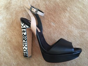 Sommer-High-Heel black&with