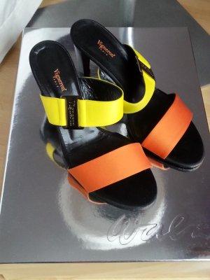 Sommer High Heel gelb/orange