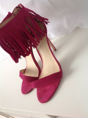 Strapped High-Heeled Sandals purple-magenta