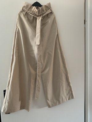 Zara Basic Pantalone culotte beige-crema