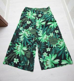 7/8 Length Trousers black-green