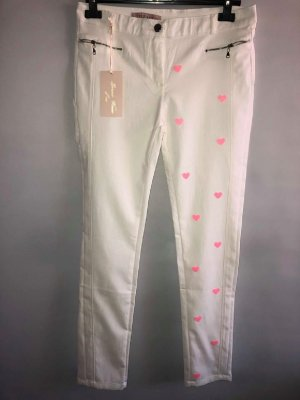 Jeggings white-pink mixture fibre