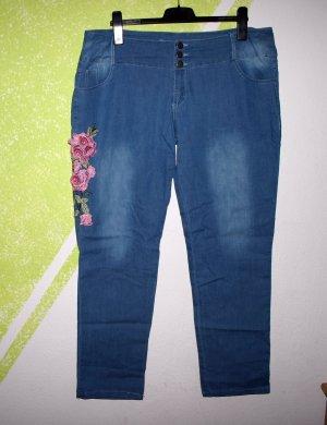 Boyfriend Trousers blue mixture fibre
