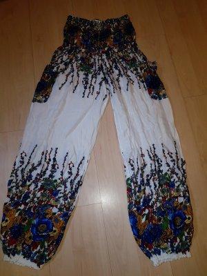Pantalon en laine multicolore