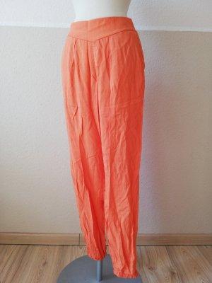 Promod Pantalon large orange clair-orange viscose