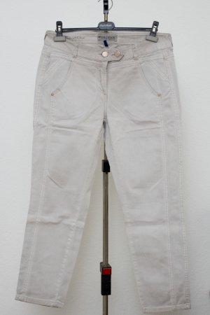 Cecil Pantalon boyfriend gris clair-beige clair coton