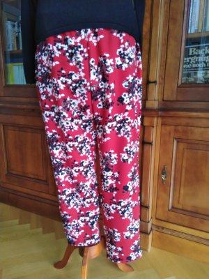Sommer Hose von Laurel Slacks Kirschblüte rot Gr.38 wie neu