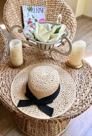 Chapeau de soleil crème-noir