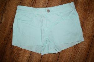 Sommer Jeans Hot Pant Gr. 36 von H&M Pastellfarbe Hellblau